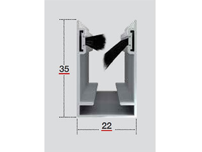 roller fly screen side guide